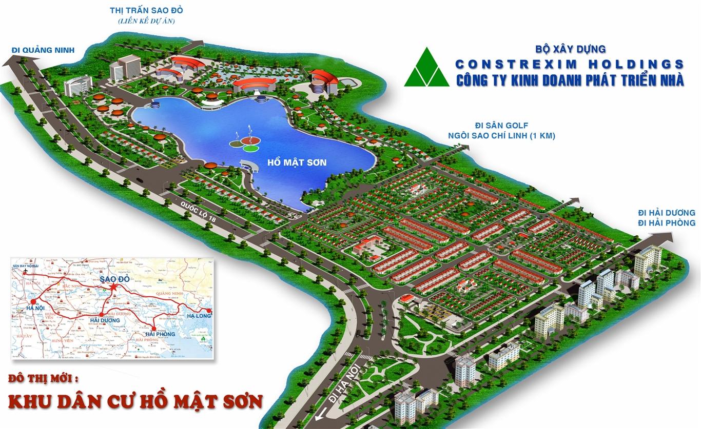 Phối cảnh dự án Hồ Mật Sơn